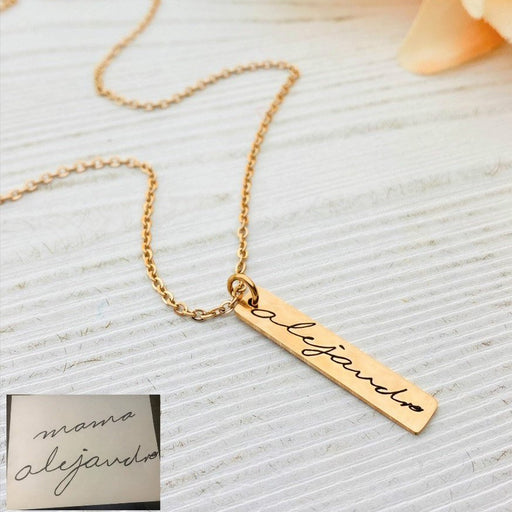 Handwriting Jewelry, Handwriting Pendants, Engrave Your Handwriting