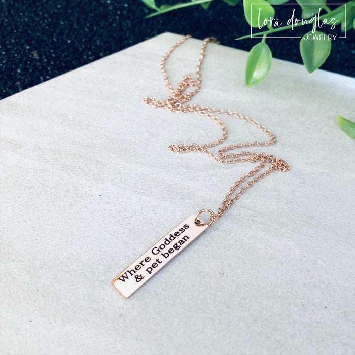 Where It All Began, Rose Gold Necklace