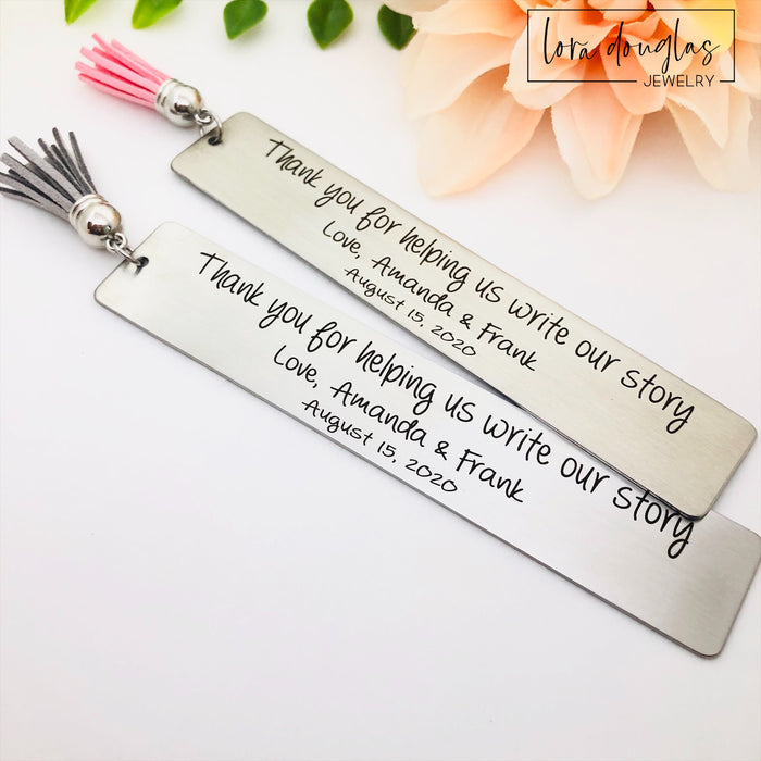 Write Our Story, Wedding Reader Bookmark