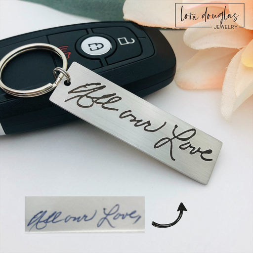 Engraved Handwriting Keychain