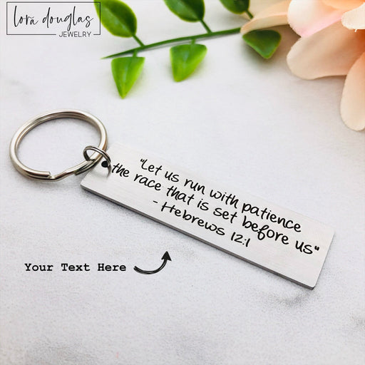 Bible Verse Keychains, Personalized Keychain, Metal Key chain
