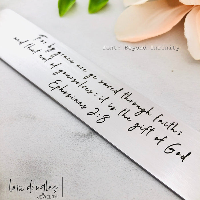 Bible Verse Bookmark, Personalized Metal Bookmark