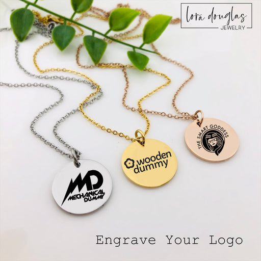 Custom Jewelry Charms, Logo Charms, Engrave Your Logo, Engraved Artwork