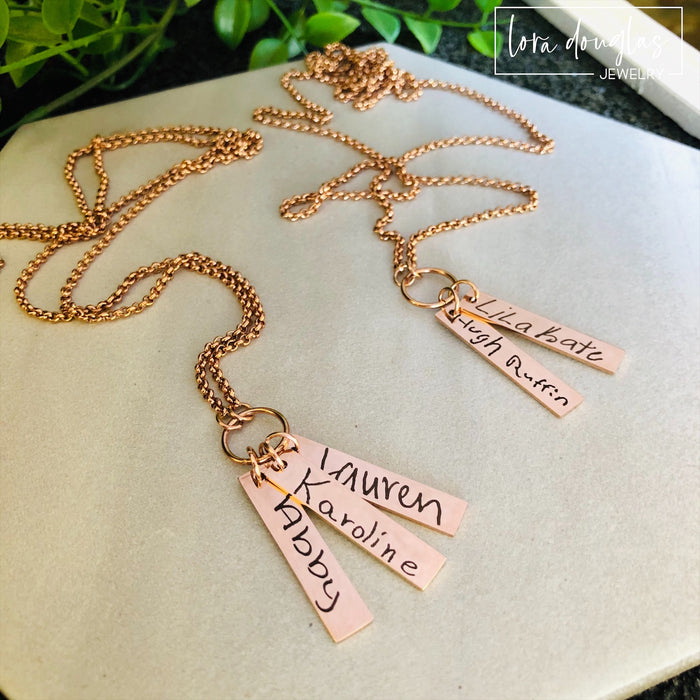 Handwriting Jewelry, Engrave Your Handwriting