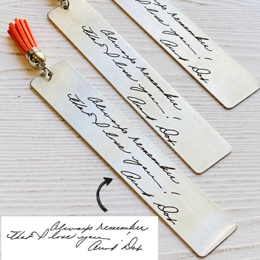 Handwriting Bookmark, Engrave Your Handwriting