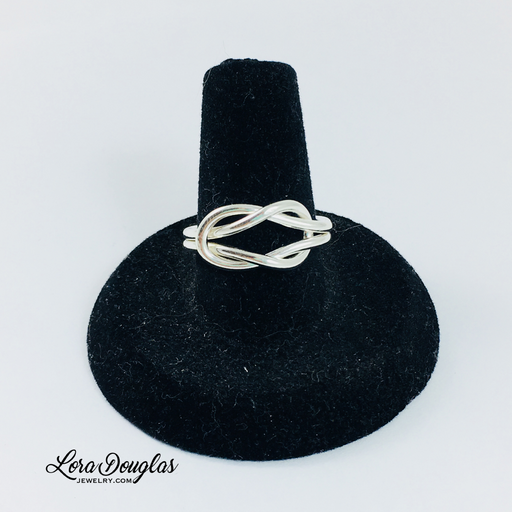 Love Knot Ring, Pure Silver Ring, Fine Silver Ring - Lora Douglas Jewelry