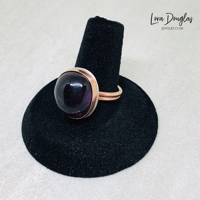 Bronze Amethyst Ring