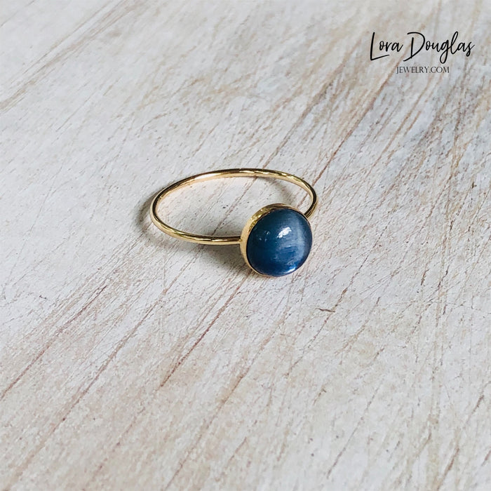 Kyanite Gold-Filled Ring, Size 8
