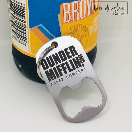 Dunder Mifflin Paper Company Bottle Opener Keychain
