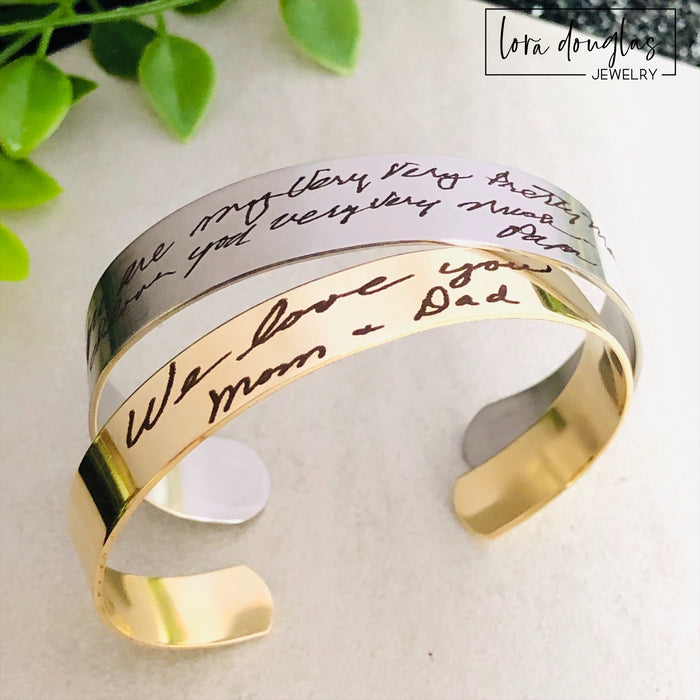 Handwriting Bracelet, Engrave Your Handwriting