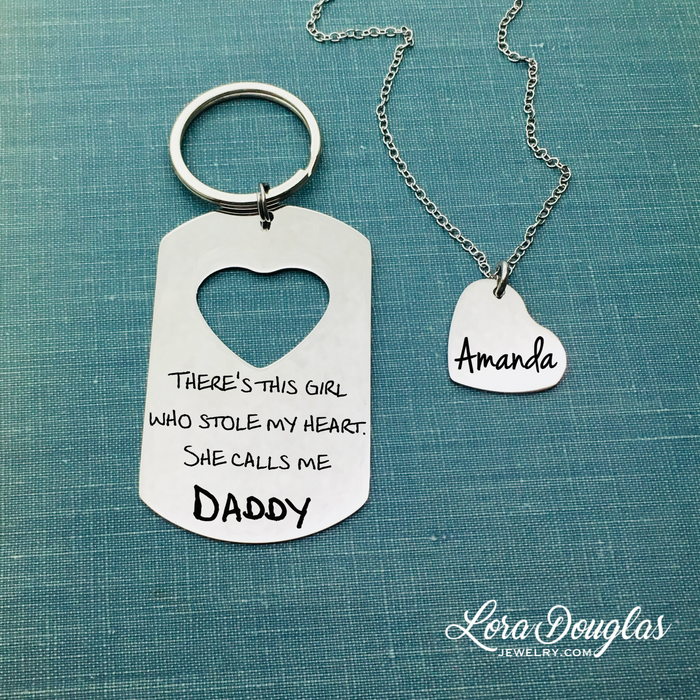 There's This Girl Who Stole My Heart She Calls Me Daddy, Father Daughter Gift Set