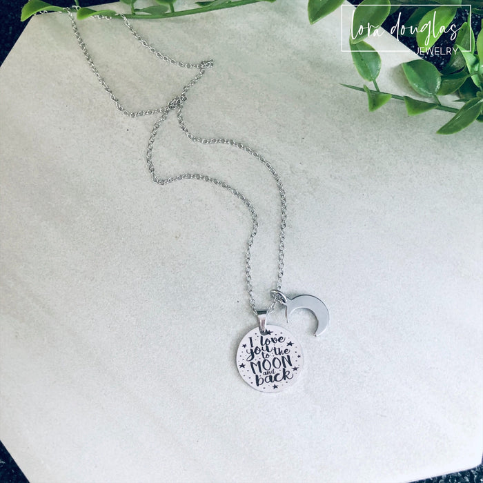 I Love You to the Moon and Back, Moon and Back Necklace