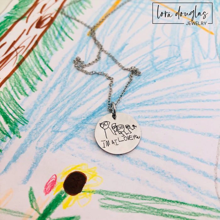 Engrave Your Child's Art, Kid Art Jewelry