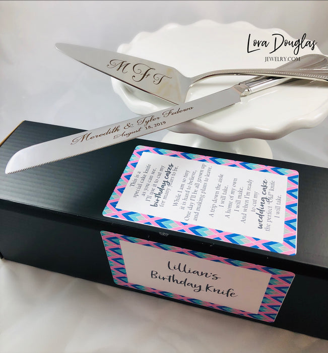 Birthday Knife, Cake Knife Set