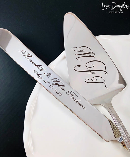 Wedding Cake Knife Set, Cake Knife Set