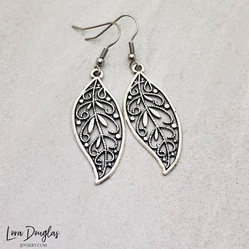 Filigree Feather Earrings