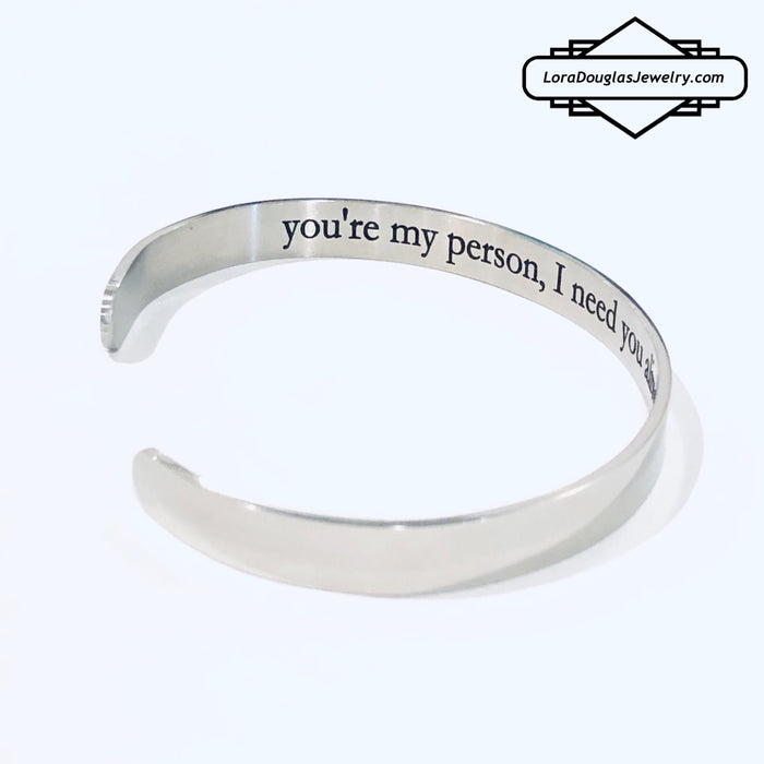 Secret Message Cuff Bracelet