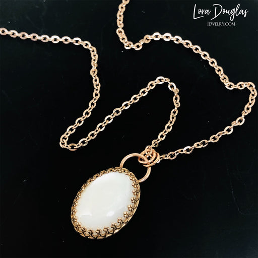 Moonstone and Bronze Necklace