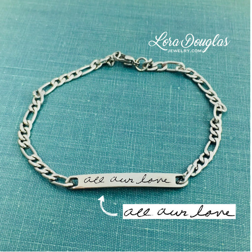 Handwriting Bracelet, Engrave Your Handwriting - Lora Douglas Jewelry