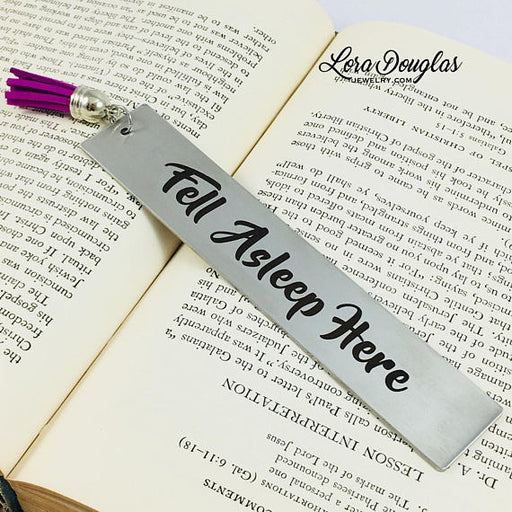 Fell Asleep Here, Tassel Bookmark