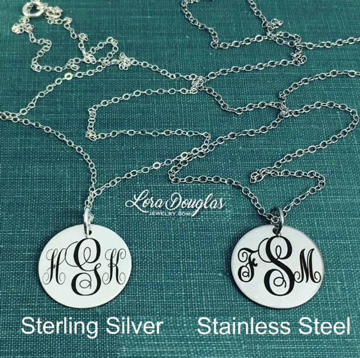 Nevertheless She Persisted: Engraved Charm, Necklace, or Bracelet (Medium Disc)