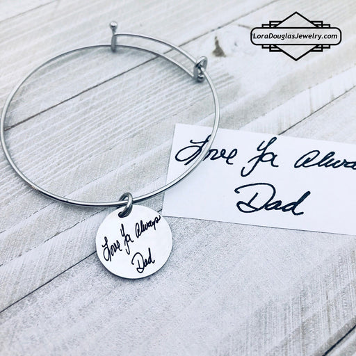 Engraved Handwriting Jewelry