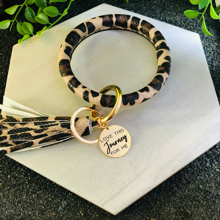 Love This Journey For Me Keychain Bangle Bracelet