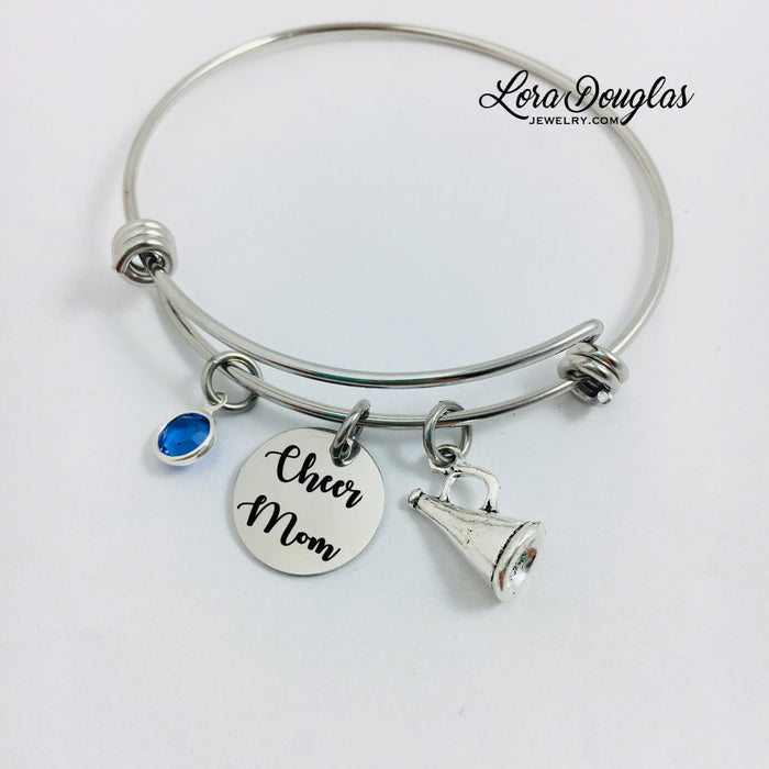 Cheerleader Bangle Bracelet, Cheerleader Charm Bracelet - Lora Douglas Jewelry