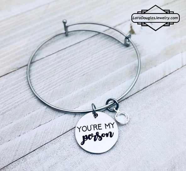 You're My Person Jewelry, Necklace, Bracelet, Charm