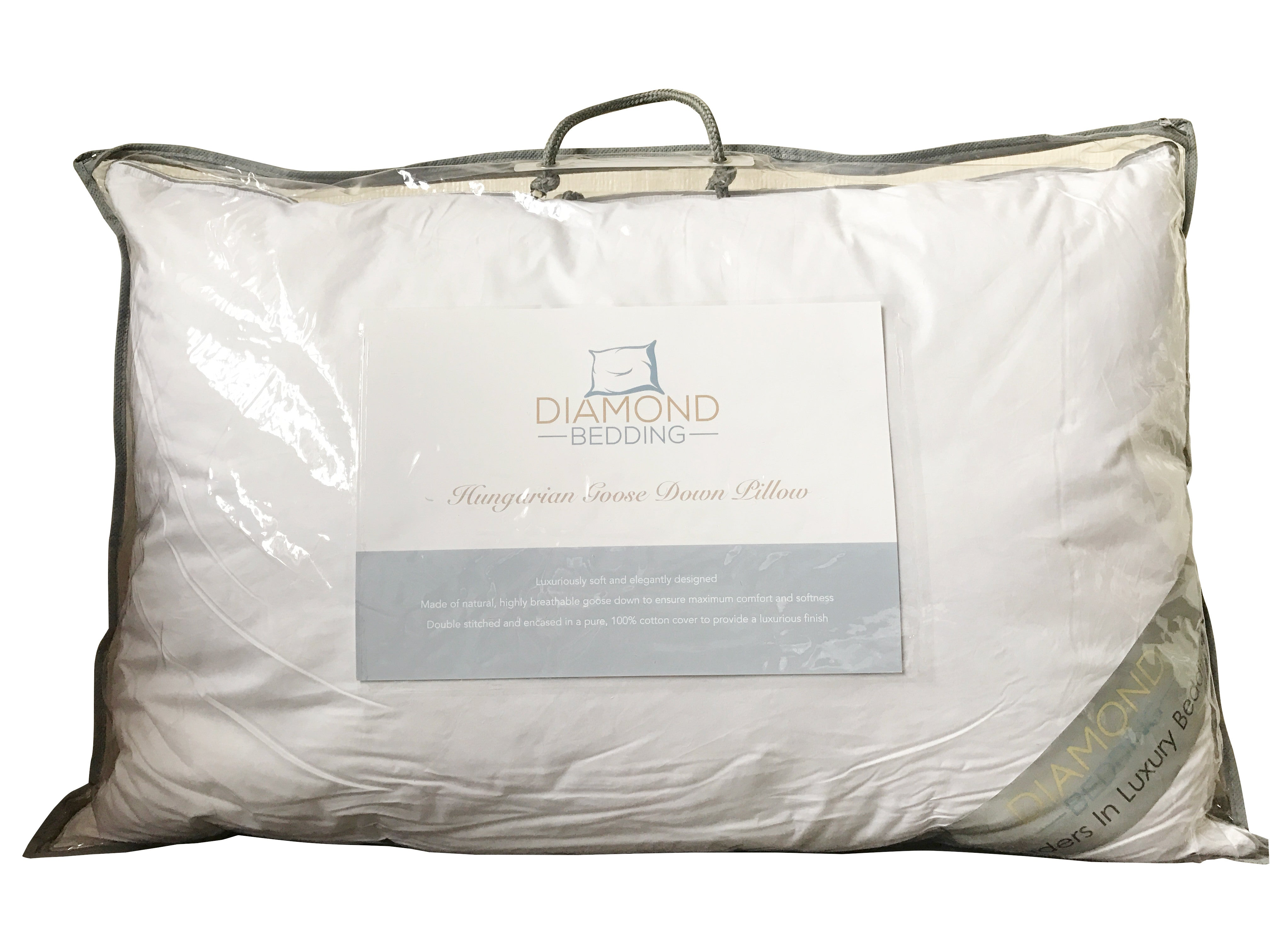 Hungarian Goose Down Pillow Diamond Bedding