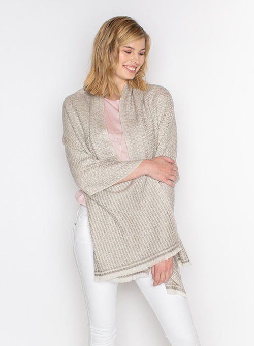 Cashmere Wrap in a Textured Knit