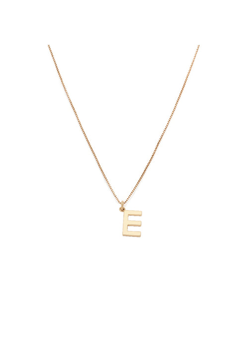 Initial Pendant Necklace - E