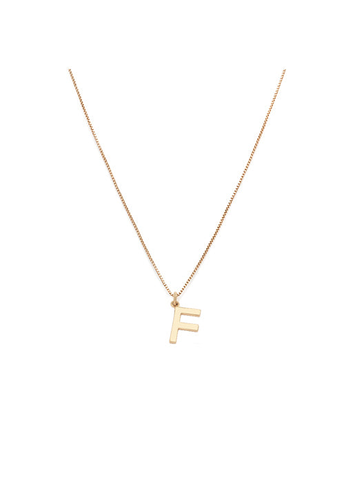 Initial Pendant Necklace - F