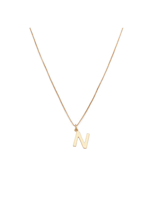 Initial Pendant Necklace - N