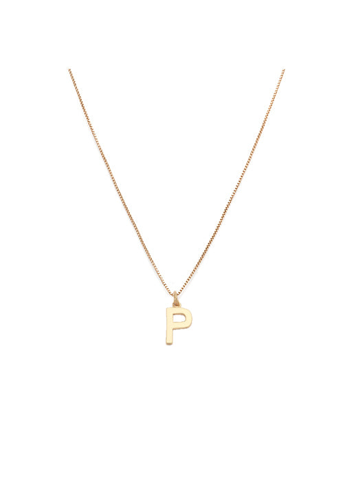 Initial Pendant Necklace - P