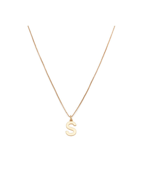Initial Pendant Necklace - S