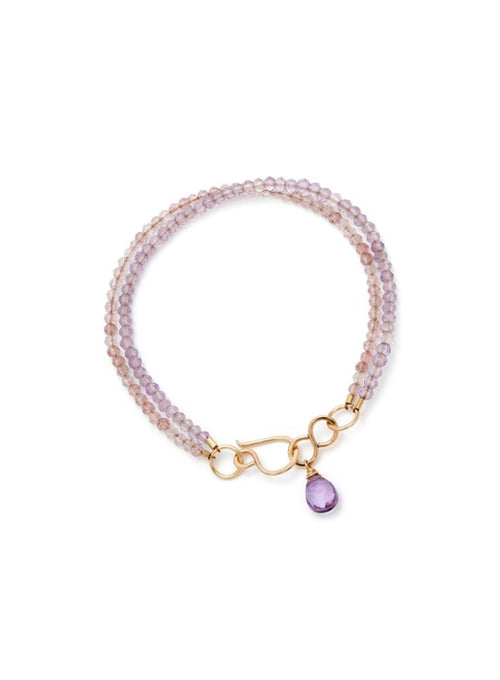 Liberty Bracelet with amethyst and rose quartz