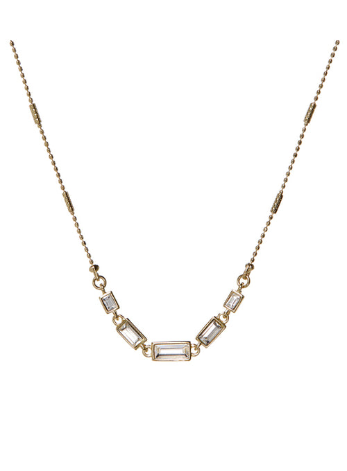 The Ascending Baguette Charm Necklace