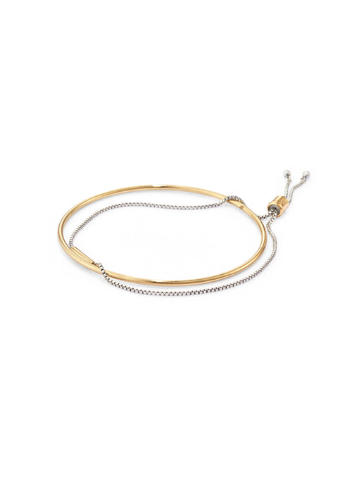 Thin Sadie Bangle Two Toned