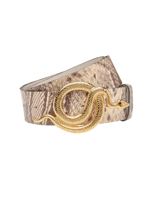 Milo Leather Belt Python