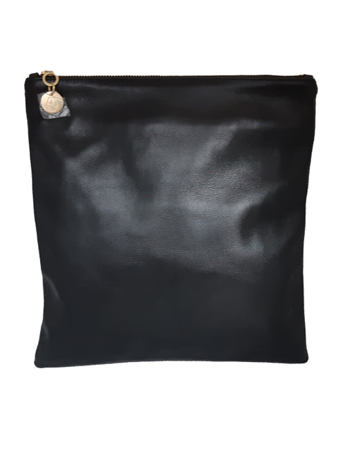 Leather Foldover Clutch