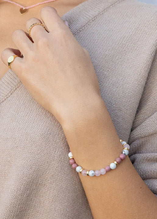 Power Gemstone Mantra Bracelet for Peace