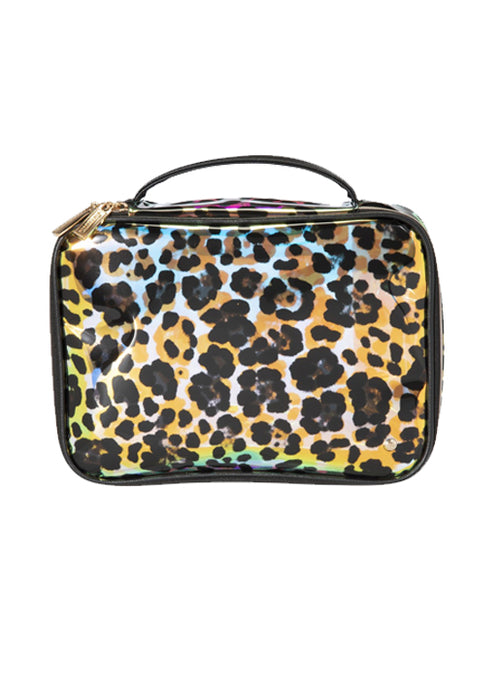 Claire Jumbo Make Up Case - Cheetah