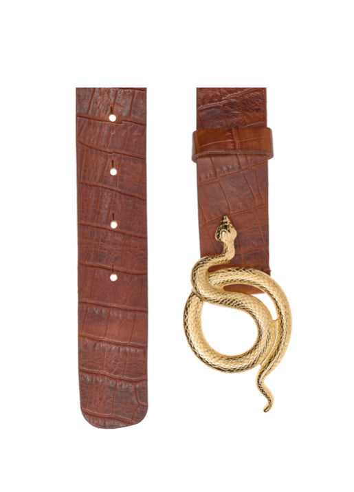 Milo Leather Belt Croc