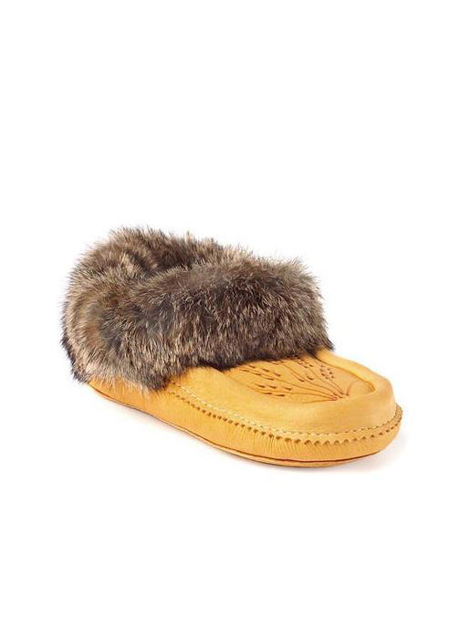 Deerskin Fur Lined Moccasin Slipper