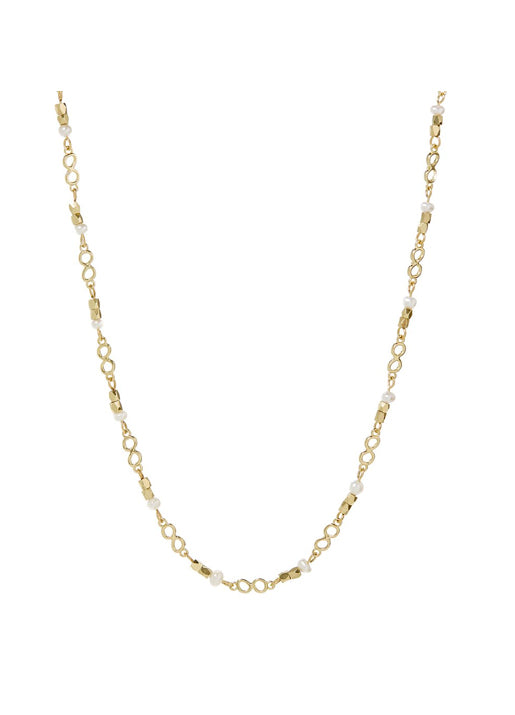 Pearl Infinity Necklace - Gold