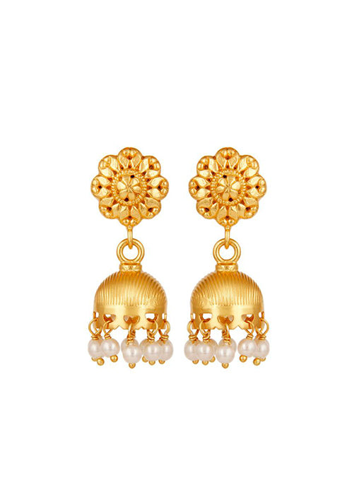 Gold & Pearl Chandelier Drop Earrings
