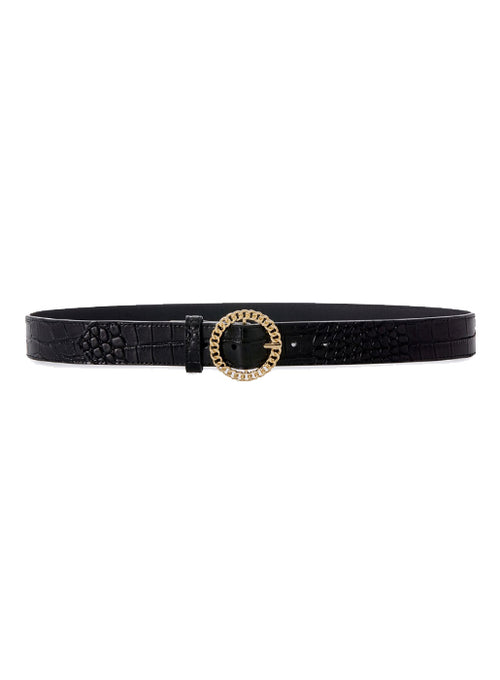 Blair Chain Link Belt - Croc