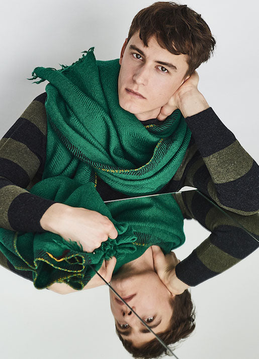 Divino Blanket Scarf - Green