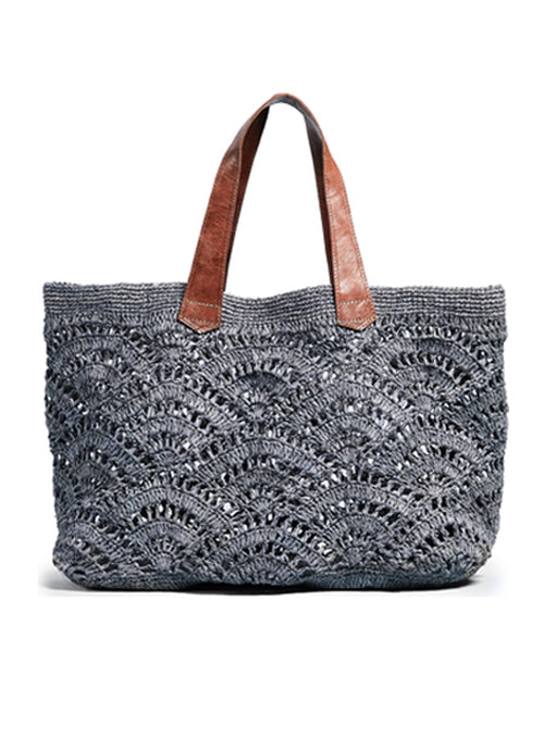 Tulum Crocheted Tote Bag - grey